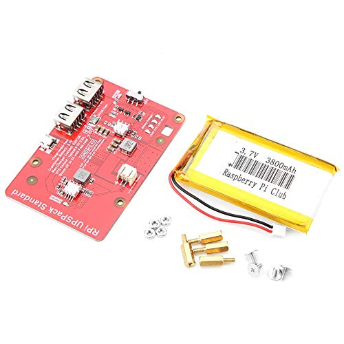 Scheda di espansione della batteria al litio per Raspberry Pi, UPS Scheda di espansione della batteria al litio con 3800mAh Batteria al litio per modulo di controllo Raspberry Pi Scheda HAT UPS Raspbe