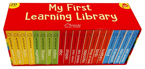 My First Learning Library Box Set: 20 Board Books Gift Set for Kids (Horizontal Design)