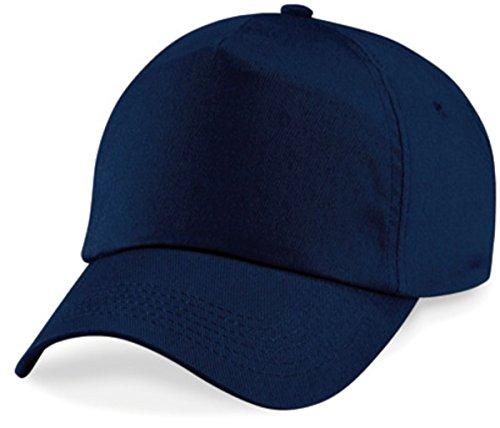 Basecap Cap 5 Panel Cap Verschluss Klettverschluss Größe Unisex, Farbe blau (Kappen Blaue)