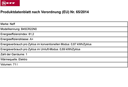 Neff BCR4522N Backofen Elektro / A+ / 71 L / mit 12 Beheizungsarten / Edelstahl - 3