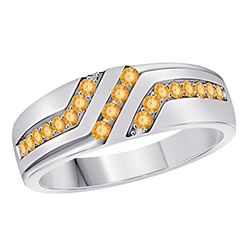 RS JEWELS Unisex Herren - Sterling-Silber 925 (Diamant-hochzeit-sets 2 Karat)