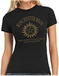 Touchlines Damen T-Shirt Winchester Bros Family Ladies