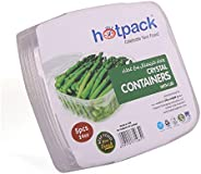 Hotpack Crystal clear Food Container with Lid- 24oz- 5Pcs