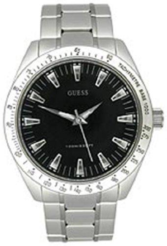 GUESS Men's 43mm Steel Bracelet & Case Quartz Black Dial Analogue-Digital Watch U10584G1