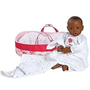 toizz 2010300440,5cm Adora Nursery time Marron Peau et yeux bébé Poupée