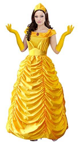 Karneval-Klamotten Belle Märchen Kostüm Damen Prinzessin Dame Luxus Karneval Damenkostüm Größe ()