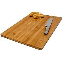 Tabla de Cortar de bambú | para cocinar tamaño grande 49x34cm | Tabla de Cocina de