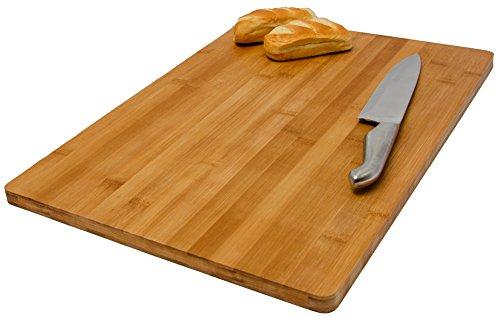 Tabla de Cortar de bambú | para cocinar tamaño grande 49x34cm | Tabla de Cocina de madera