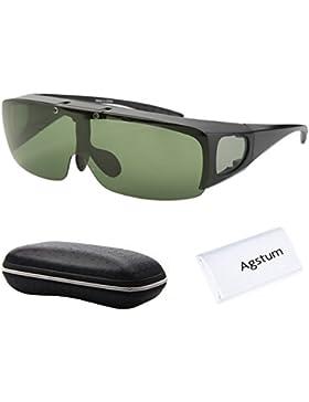 Anteojos Agstum de conducción polarizada y envolvente, gafas de sol con ajuste hacia arriba