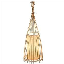 Nueva lámpara de pie de bambú. Forma cónica. Lámpara vertical 174 cm