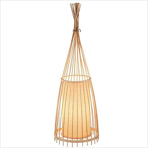Lily lámpara de pie de bambú del Arte Chino, Forma cónica Hueco Creativa, lámpara Vertical del Estudio del Dormitorio de la Sala de Estar, H174CM