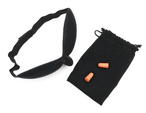 ocona© Schlafmaske, Augenmaske, absolut blickdicht, schwarz
