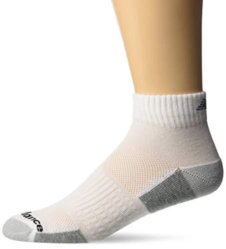 New Balance Herren Socken, 6 Paar, Herren, weiß, Size 9-12.5/Large