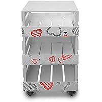 Carrello da cucina multiuso trasportabile shabby TROLLEY BOX 30X40cm H.85
