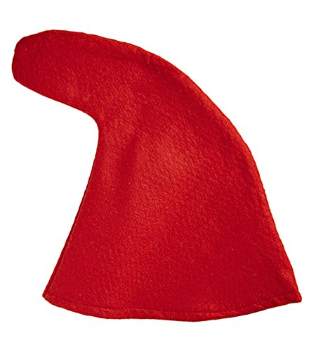 Zwergenmütze zum Kostüm Rot (Günstig Märchen Kostüme Für Erwachsene)