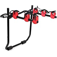 MVPower 3-Bike Trunk Mount Rack, Folding Hitch Mounted Car Bicycle Carrier Hitch Mount Rack by MVPower - Bike Hitch Rack
