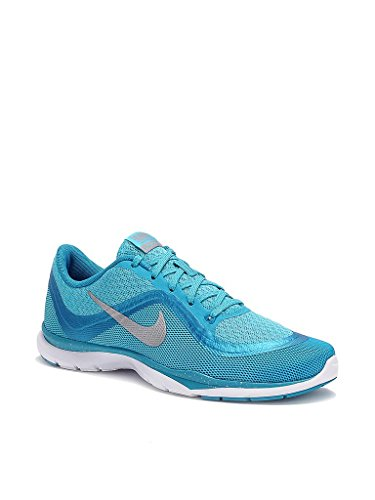 Nike W Flex Trainer 6 Print, Scarpe da Ginnastica Donna Blu (Azul (Gmm Bl / Mtllc Slvr-Bl Lgn-White))