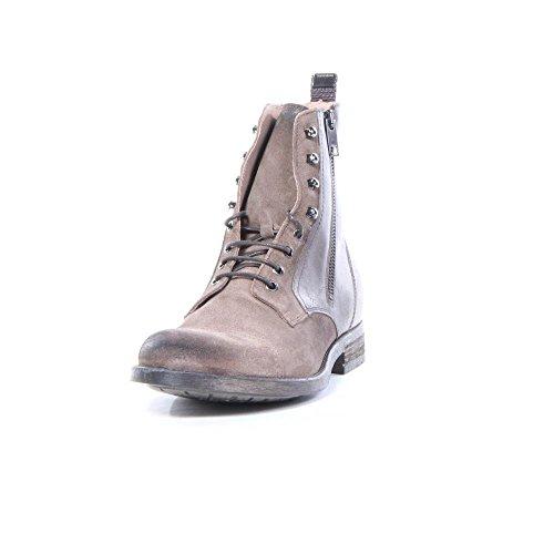DIESEL - Stiefel und Boots - Herren - Halbstiefel mit seitlichem Reißverschluss, abgesetzter Spitze in Braun und Schnürsenkeln D-Kallien für herren - 45 (Schuhe Stiefel Diesel)