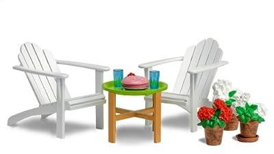 Lundby 60.3044.00 Småland - Muebles de jardín para casita de muñecas por Lundby