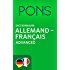 PONS Dictionnaire Allemand -> Français Advanced / PONS Wörterbuch Deutsch -> Französisch Advanced (German Edition)