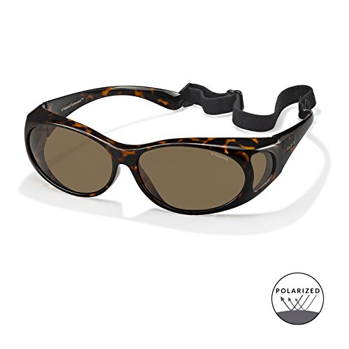 36141b0adf Polaroid Suncovers Fitover Sunglasses P8406 0BM IG Dark Havana Brown ...
