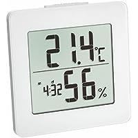 TFA Dostmann digitales Thermo-Hygrometer (Zuschaltbares Stundensignal) weiß