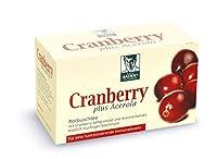 Thé rooïbos BADERs Cranberry plus Acerola. Pour un système immunitaire à toute épreuve. Végane. 20 sachets (40 g). Numéro pharmaceutique centralisé : 06919307