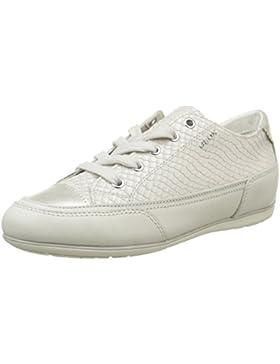 Geox Damenschuhe D NEW MOENA D5260D Damen Sneaker, Schnürer, Halbschuhe Leder