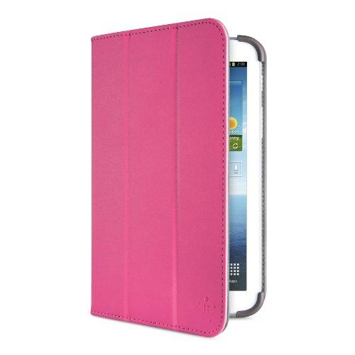Belkin Smooth Tri-Fold-Schutzhülle mit Standfuß für Samsung Galaxy Tab 3 17,8 cm (7 Zoll) pink