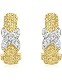 Carissima Gold Damen-Ohrringe 9 Karat (375) Gelbgold Rundschliff Diamant