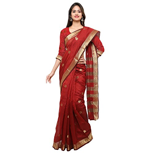 Oomph! Art Silk Saree (Rbks_80660_Red_Ruby Red)