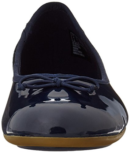 Clarks Couture Bloom, Ballerine Donna, Nero, Various Blu (Navy Patent)
