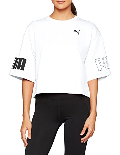 Puma Modern Sport Sweat Tee Shirts Femme, White, FR (Taille Fabricant : XS)