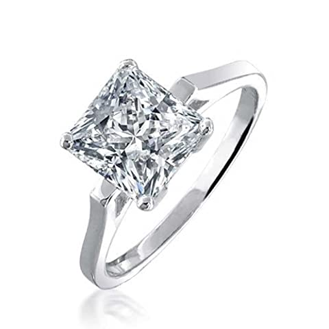 Bling Jewelry Sterling Silber 1,59 ct-Princess Cut CZ Bridal Engagement Ring