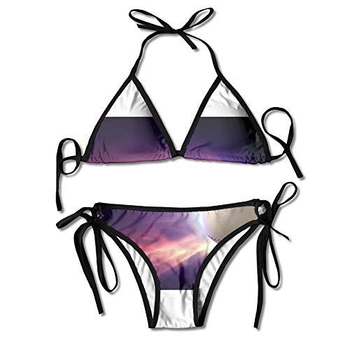 Baseball Art Bikini Women s Summer Swimwear Triangle Top Bikinis Swimsuit  Sexy 2-Piece Set 1fce2036a5b