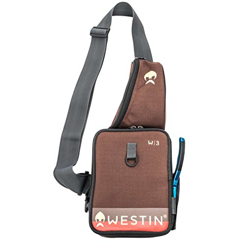 Westin Street Sling Medium Grizzly Brown - Kunstködertasche für Wobbler & Gummifische, Tackletasche für Kunstköder, Blinkertasche Street Sling