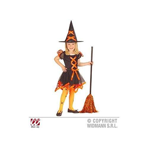 Lively Moments Kleine freche Hexe in orange Gr. 104 - 110 / Kinderkostüm / Hexenkostüm / Kinderhexenkostüm / Halloweenkostüm