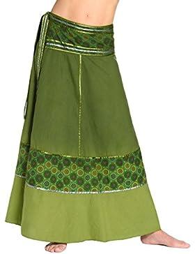 Falda cruzada teñida al batik - falda unisex de la India, 92 de largo, con lazos - muchos diseños diferentes