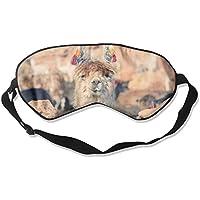 Eye Mask Eyeshade Alpaca Face Sleeping Mask Blindfold Eyepatch Adjustable Head Strap preisvergleich bei billige-tabletten.eu
