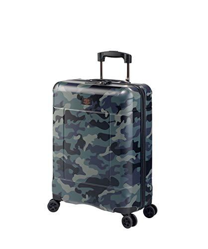 JUMP, Koffer Grün Camouflage 55 x 40 x 20 cm