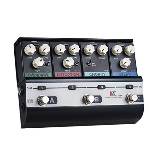 Gitarreneffektpedale (Overdrive + Distortion + Analog Chorus + Analog Delay) Gitarreneffektor