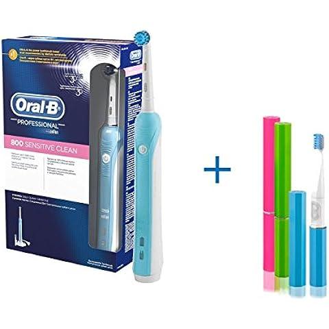 Oral-B Pro 4000 - Cepillo de dientes eléctrico recargable + cepillo sonico de Regalo, recomendado por dentistas y medicos de todo el