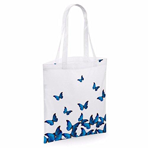 Tote bag pour femme Papillon Tattoo mprimé sac épaule sacs en toile