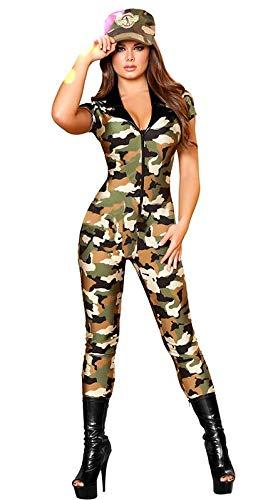 Soldaten Kostüm Uniform - SAMGU Frauen Sexy Tarnung Soldat Militär Kostüm Kommando Anzug Cosplay Uniform