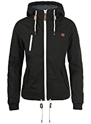 DESIRES Tilda Damen Übergangsjacke Jacke gefüttert mit Kapuze, Größe:S, Farbe:Black (9000)