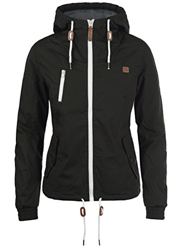 DESIRES Tilda Damen Übergangsjacke Jacke gefüttert mit Kapuze, Größe:XS, Farbe:Black (9000)
