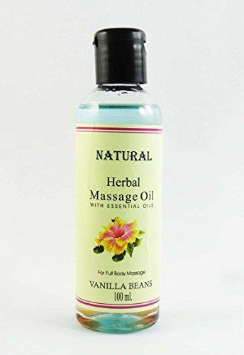 Vanilla Beans Huile de massage de fines herbes à l'huile essentielle pour 100 ml Full Body