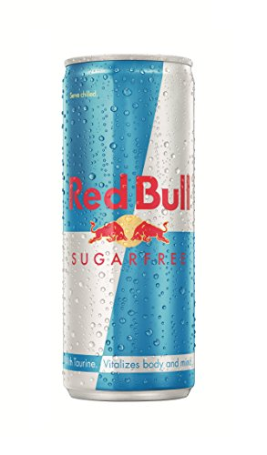 Red Bull Energy Drink, Sugarfree, 250 ML Cans, (24 Pack)