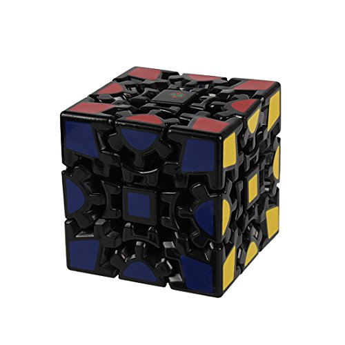 Preisvergleich Produktbild Andux Zone 3D Gear Cube I Generation Painted Stickerless Twisty Puzzle 3x3x3 YXMF-03 (Schwarz)