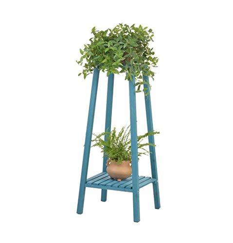 Fuweiencore fioriere in legno massello multilivello in giardino all'aperto o al coperto camera da letto balcone e angolare porta fiori verticale - l33 e tempi; w33 e tempi; h75cm (colore: blu)